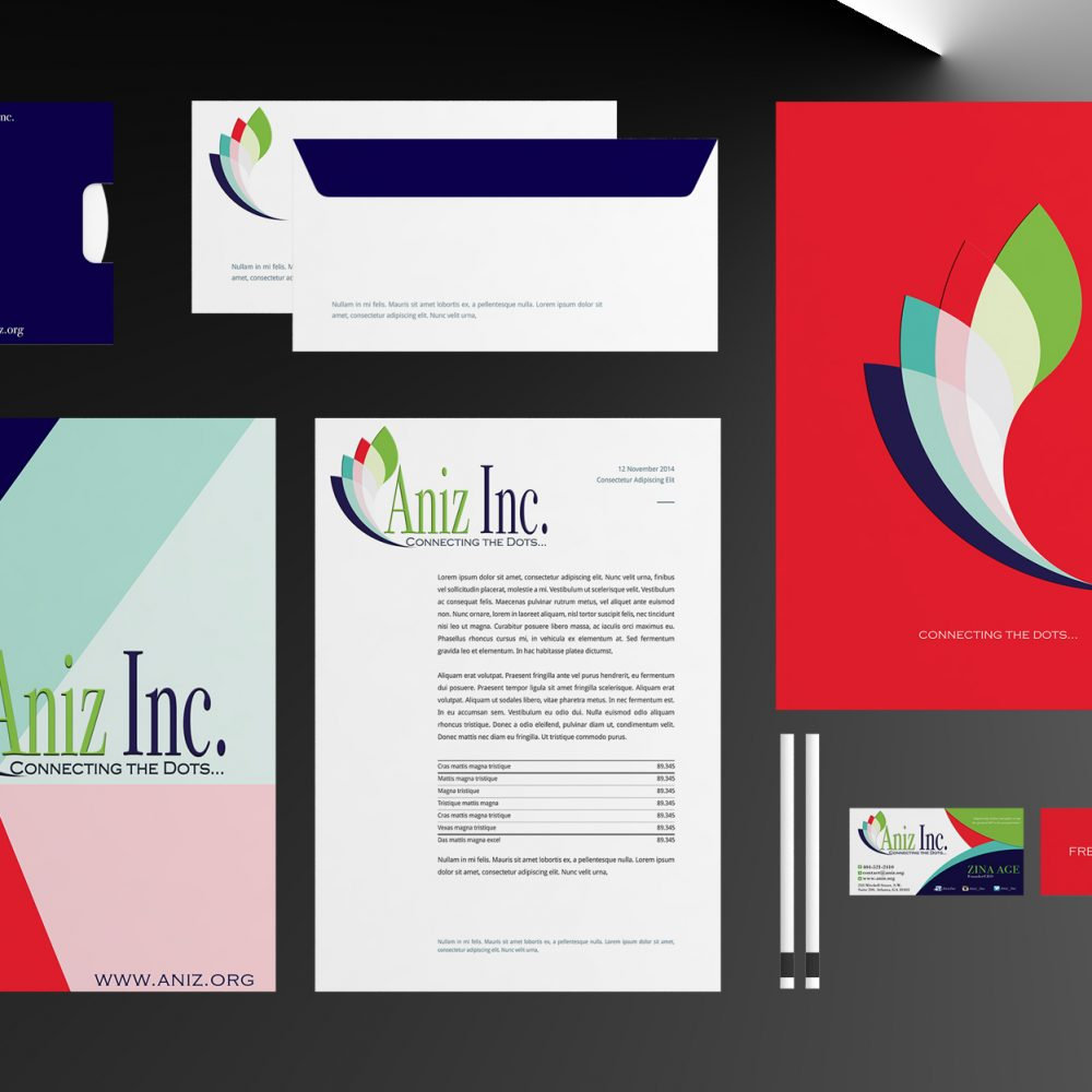 Aniz Stationary Mock Up