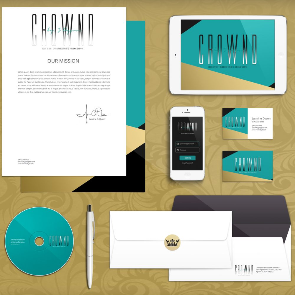 CROWND Brand Identity Mock-Up